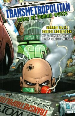 Cover for the Transmetropolitan: Tales of Human Waste Trade Paperback