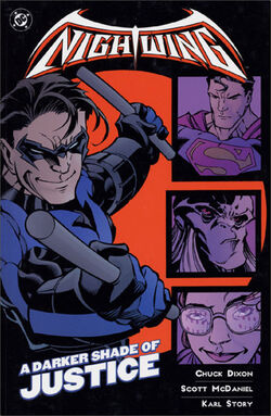 Cover for the Nightwing: A Darker Shade of Justice Trade Paperback