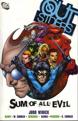 Cover for the Outsiders: Sum of All Evil Trade Paperback