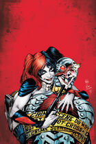 Harley forcing Deadshot to wear Joker's face