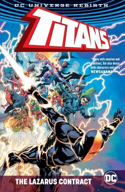 Cover for the Titans: The Lazarus Contract Trade Paperback