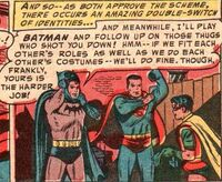 Batman and Superman switch identities