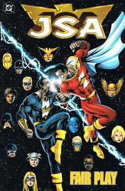 Cover for the JSA: Fair Play Trade Paperback