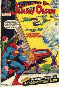 A Superman in Supertown, city of the New Gods!