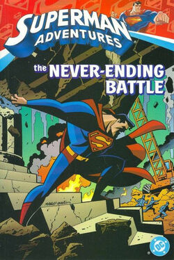 Cover for the Superman Adventures: The Never-Ending Battle Trade Paperback