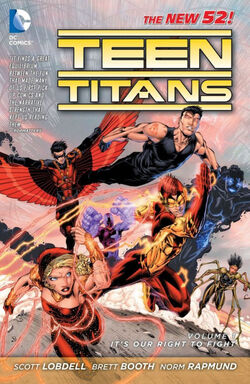 Cover for the Teen Titans: It's Our Right to Fight Trade Paperback