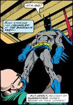 Batman defeats Strange