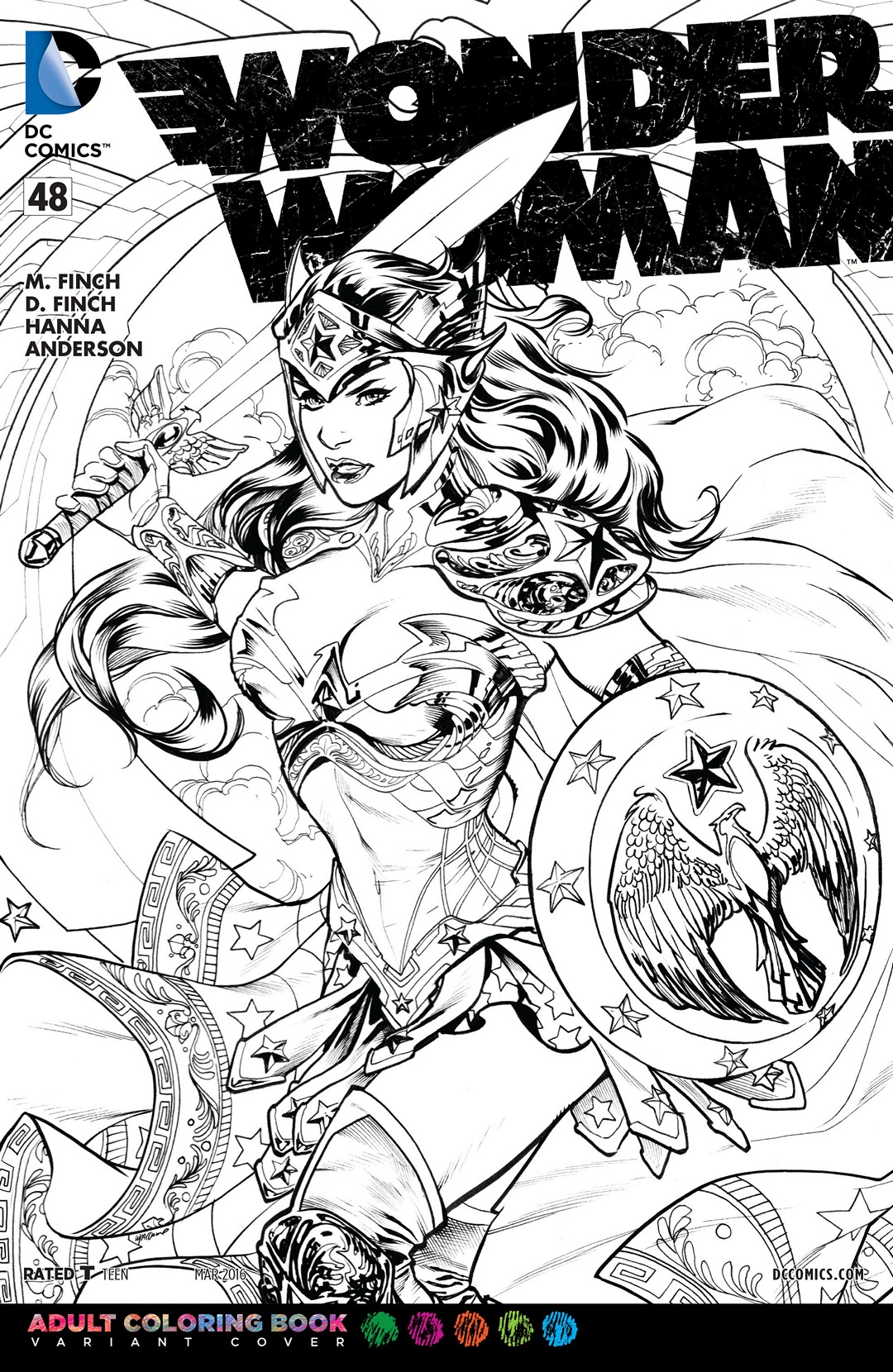 Image - Wonder Woman Vol 4 48 Adult Coloring Book Variant.jpg | DC ...