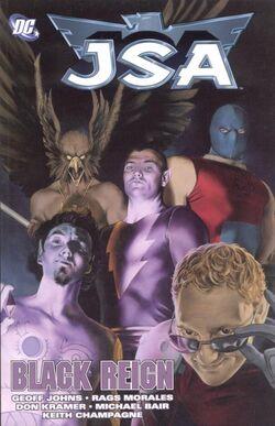 Cover for the JSA: Black Reign Trade Paperback