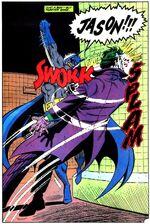 Batman beating Joker