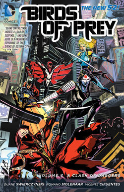 Cover for the Birds of Prey: A Clash of Daggers Trade Paperback