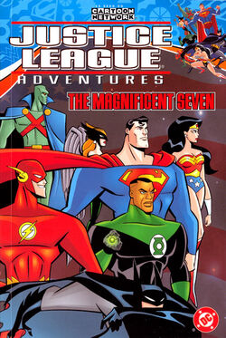 Cover for the Justice League Adventures: The Magnificent Seven Trade Paperback