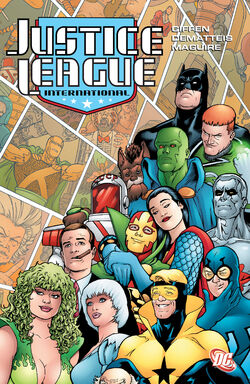 Cover for the Justice League International: Volume Three Trade Paperback