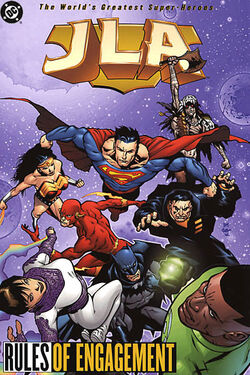 Cover for the JLA: Rules of Engagement Trade Paperback