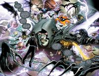 Bruce Wayne faces Barbatos in the Dark Multiverse