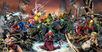 Three different Justice Leagues fight for Pandora's Box