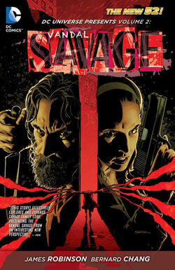 Cover for the DC Universe Presents: Vandal Savage Trade Paperback