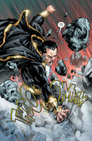 Black Adam destroys the throne of Kahndaq