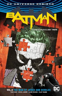 Cover for the Batman: The War of Jokes and Riddles Trade Paperback