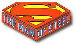 The Man of Steel (1986) logo