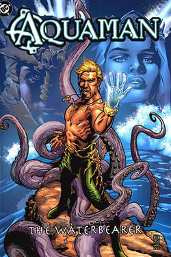 Cover for the Aquaman: The Waterbearer Trade Paperback