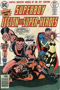 Superboy and Timber Wolf against Grimbor the Chainsman and Charma