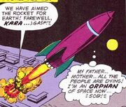 Supergirl's rocket