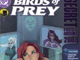 Birds of Prey Secret Files and Origins 2003