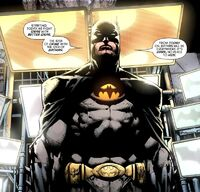 The redesigned Batman Incorporated costume