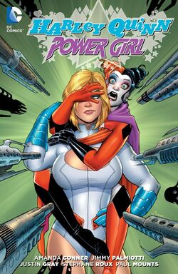 Cover for the Harley Quinn and Power Girl Trade Paperback