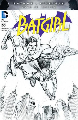 Pencils Only [[Batman v Superman: Dawn of Justice|Batman v Superman]] Variant