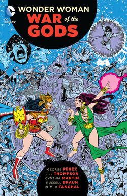 Cover for the Wonder Woman: War of the Gods Trade Paperback