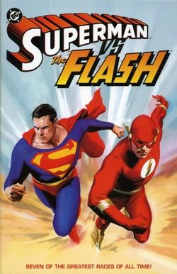 Cover for the Superman vs. The Flash Trade Paperback
