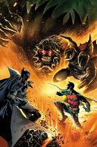 Doomsday hunts Batman and Red Robin