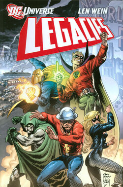 Cover for the DC Universe Legacies Trade Paperback