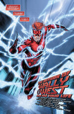 After escaping the Speed Force, Wally constructs a new costume