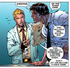 Barry Allen is a forensic scientist.