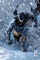 Batman treks through the snow of Russia