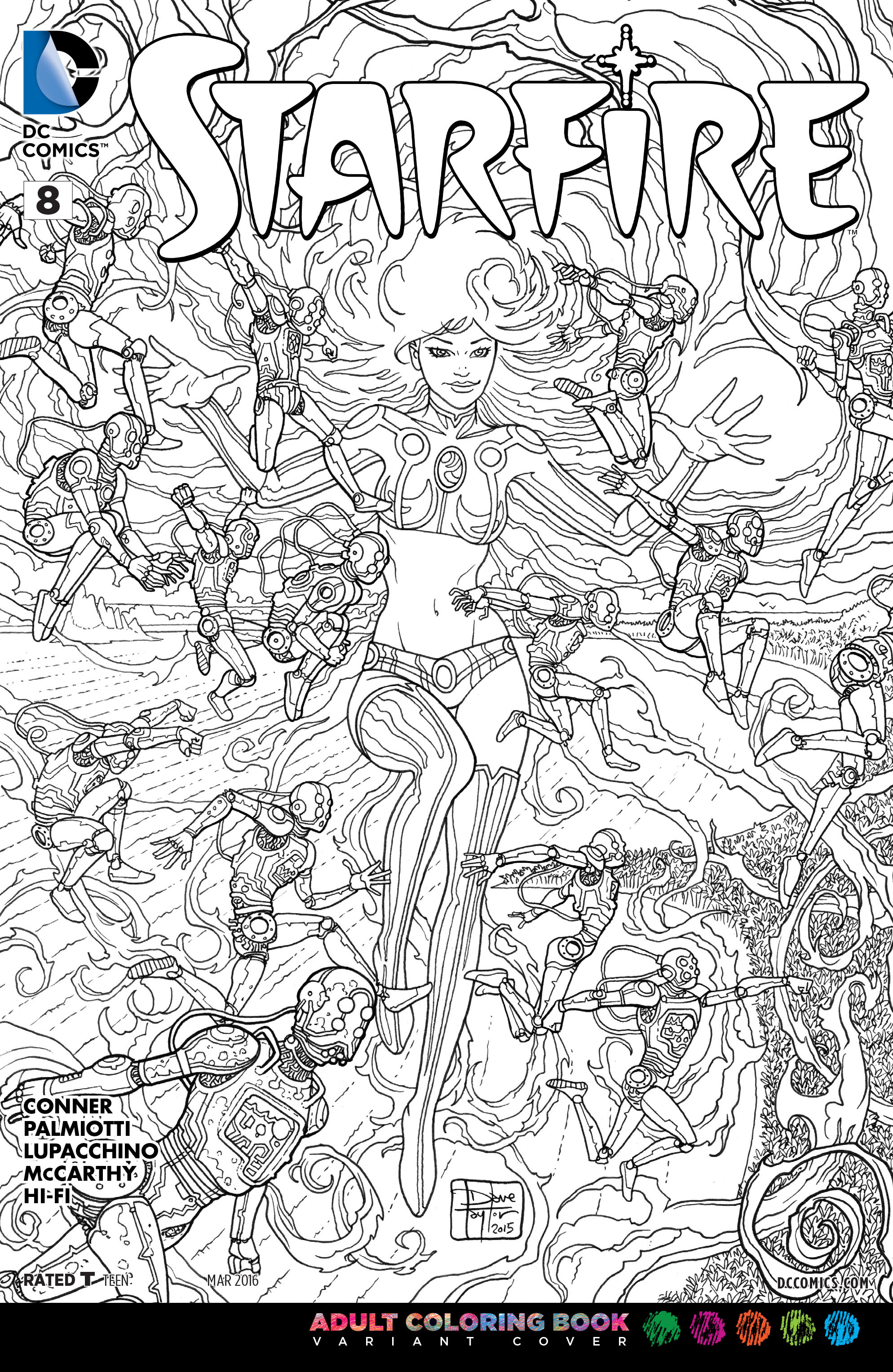 Image Starfire Vol 2 8 Adult Coloring Book Variantjpg DC