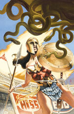 Wonder Woman battles Medusa