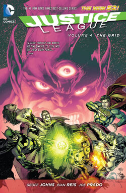 Cover for the Justice League: The Grid Trade Paperback