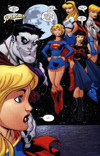 Several Supergirls.