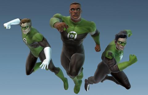 Hal Jordan Justice League Heroes