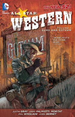 Cover for the All-Star Western: Guns and Gotham Trade Paperback