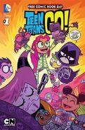 FCBD 2015 Teen Titans Go! Scooby-Doo! Team-Up Vol 1 1 Teen Titans Cover