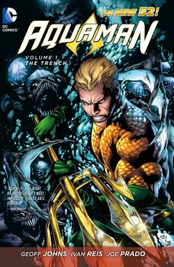 Cover for the Aquaman: The Trench Trade Paperback