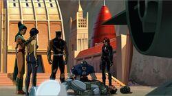 Avengers Surround Iron Man UA2