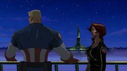 Widow Comforts Steve UA