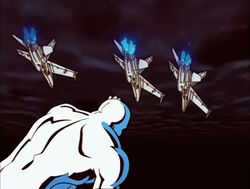 Navy Jets Fly Over Silver Surfer