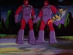 Cyclops Storm Flees Sentinels